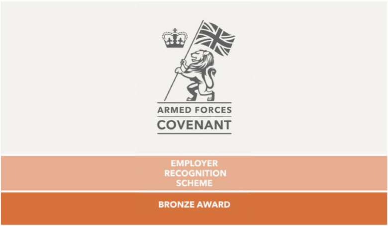 Protocol armed forces covenant employer recognition scheme bronze award